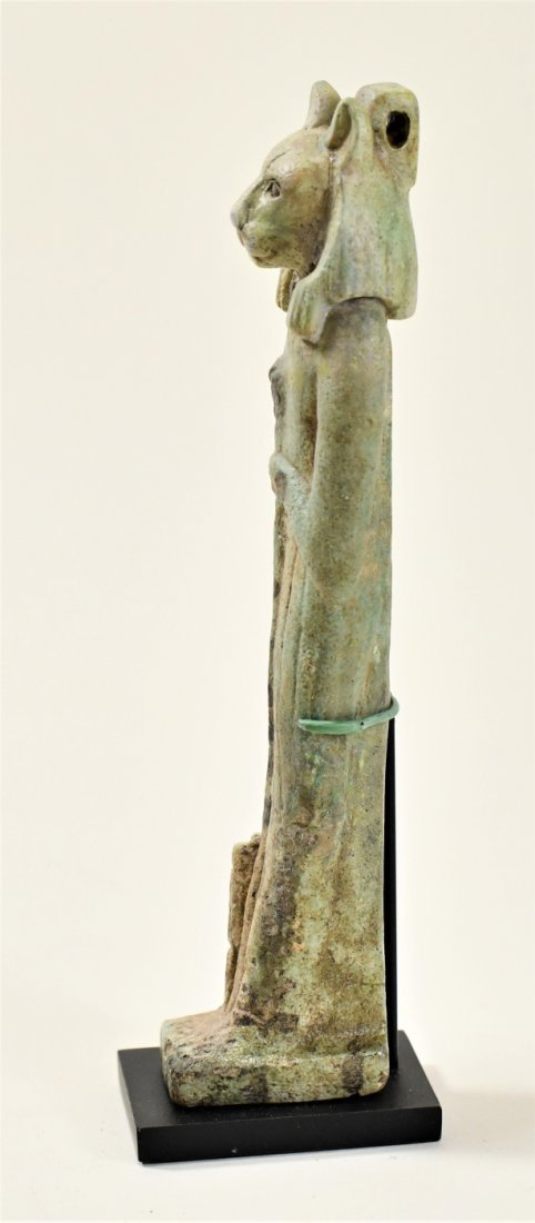 A Large Egyptian Green Glazed Faience Figure of Sekhmet - 4