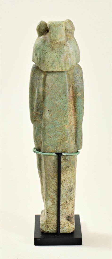 A Large Egyptian Green Glazed Faience Figure of Sekhmet - 5