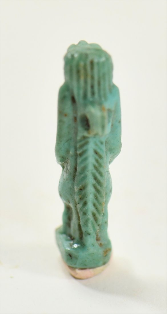 An Egyptian Blue Glaze Amulet of a Falcon-Headed Diety - 4