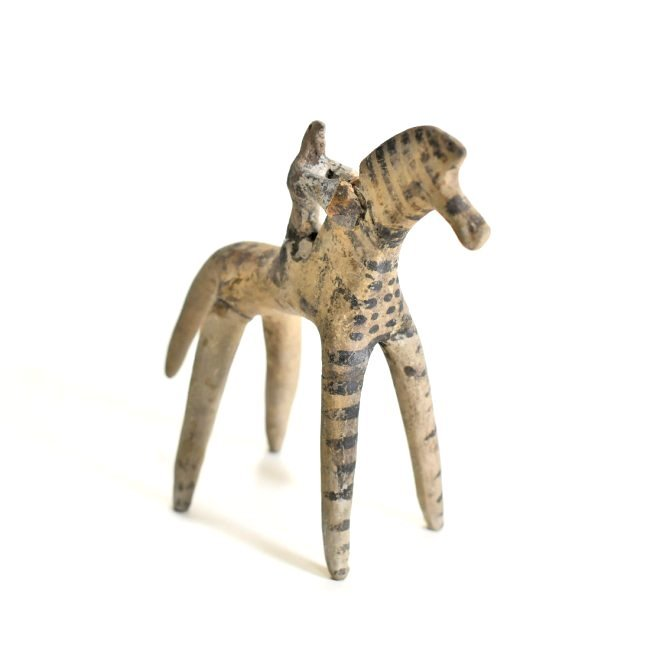 A Greek Terracotta Horse and Rider - 3