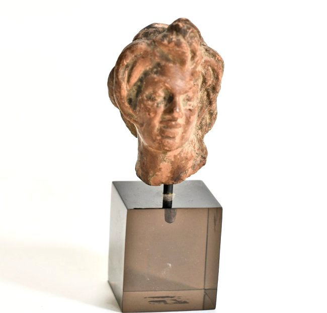 A Hellenistic Pottery Male Bust - 2