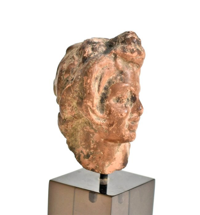 A Hellenistic Pottery Male Bust - 3
