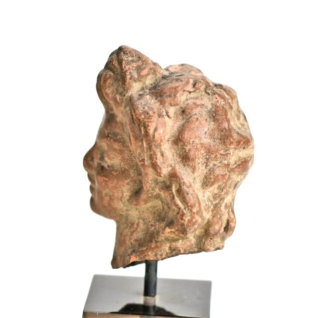 A Hellenistic Pottery Male Bust - 5