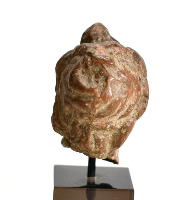 A Hellenistic Pottery Male Bust - 6