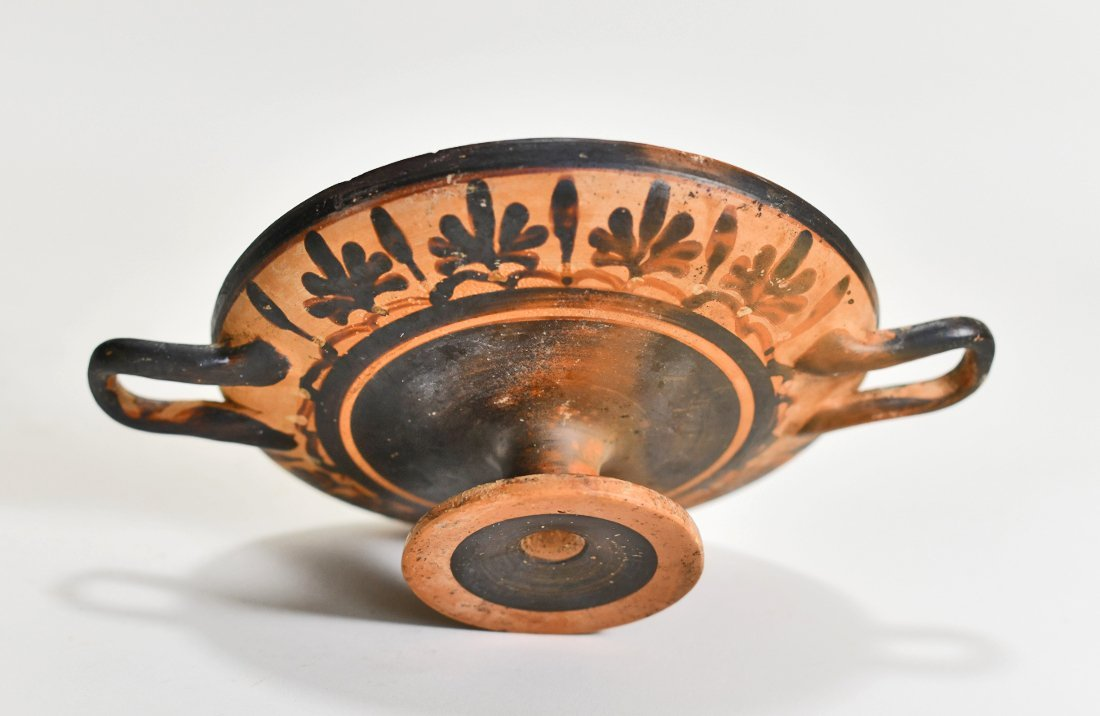 A Greek Decorated Pottery Kylix