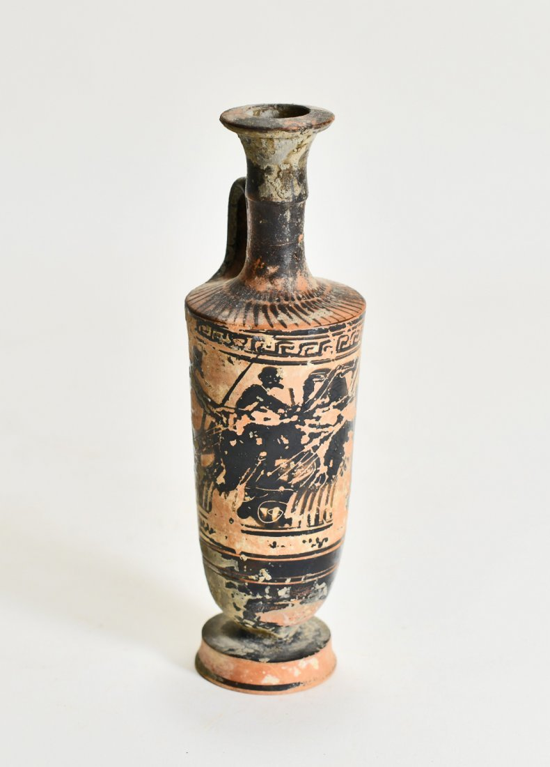 A Greek Pottery Lekythos of a Charioteer - 3