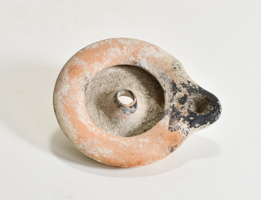 A Hellenistic Pottery Oil Lamp