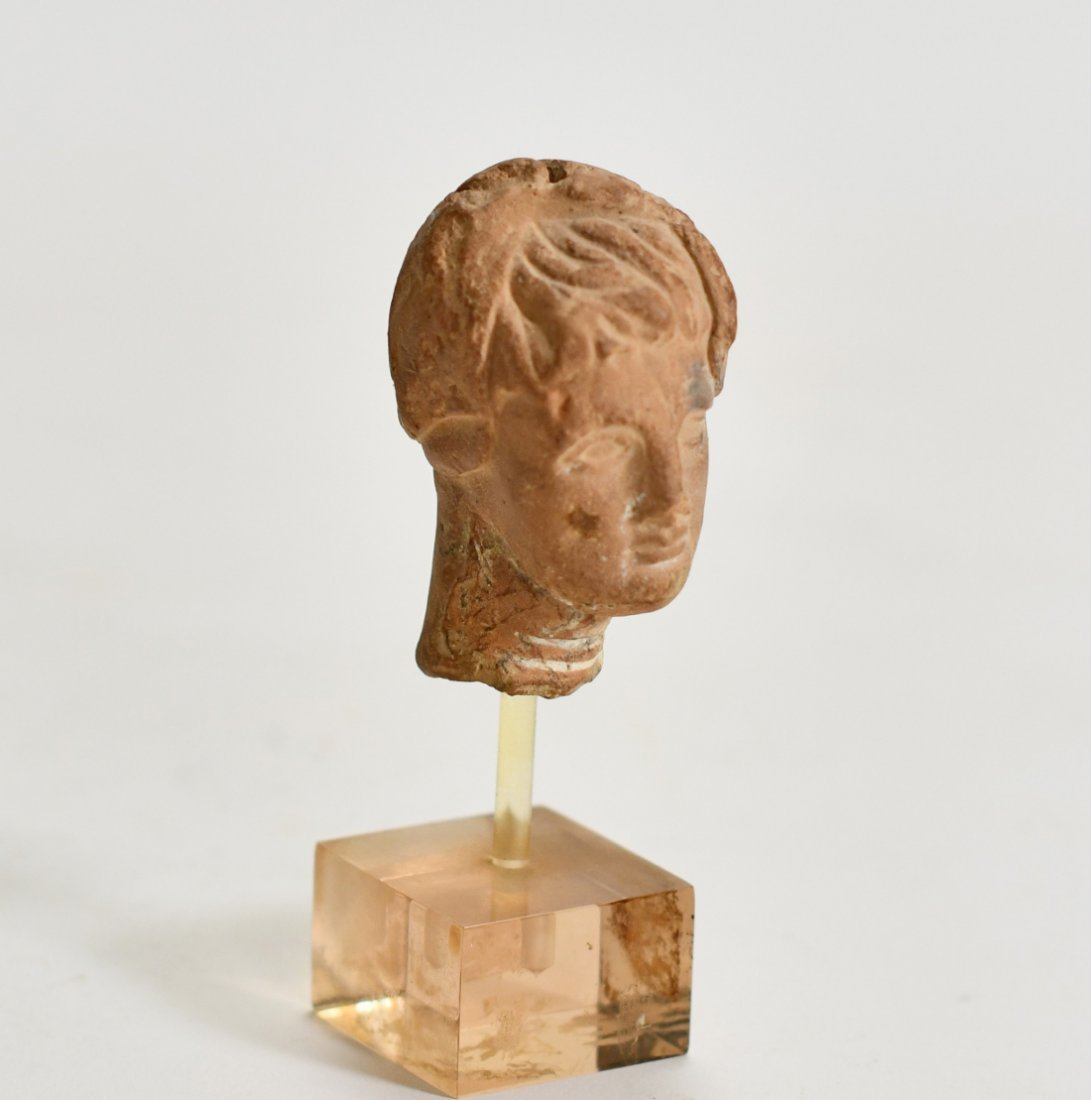 A Hellenistic Pottery Bust of a Female