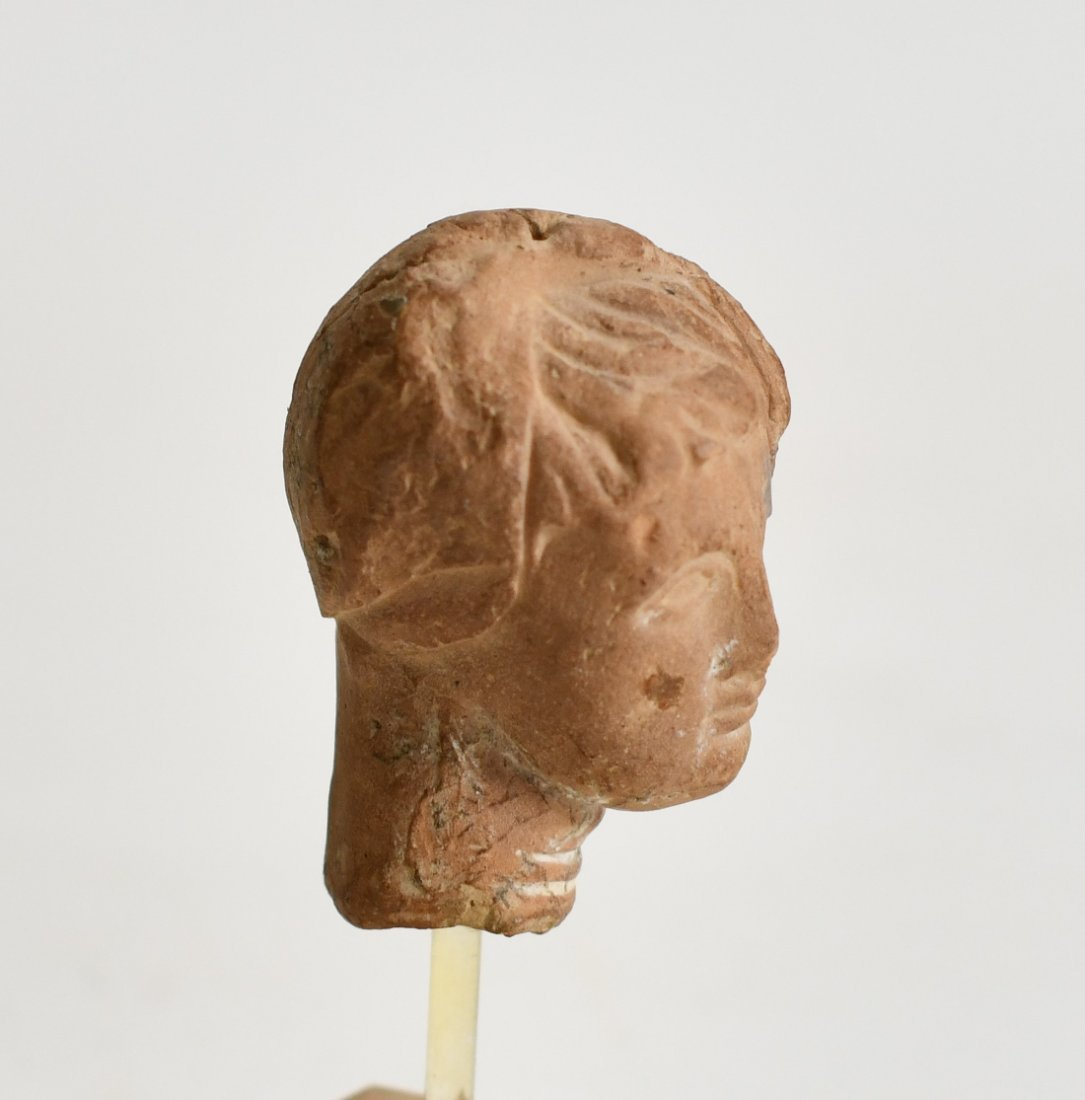 A Hellenistic Pottery Bust of a Female - 2