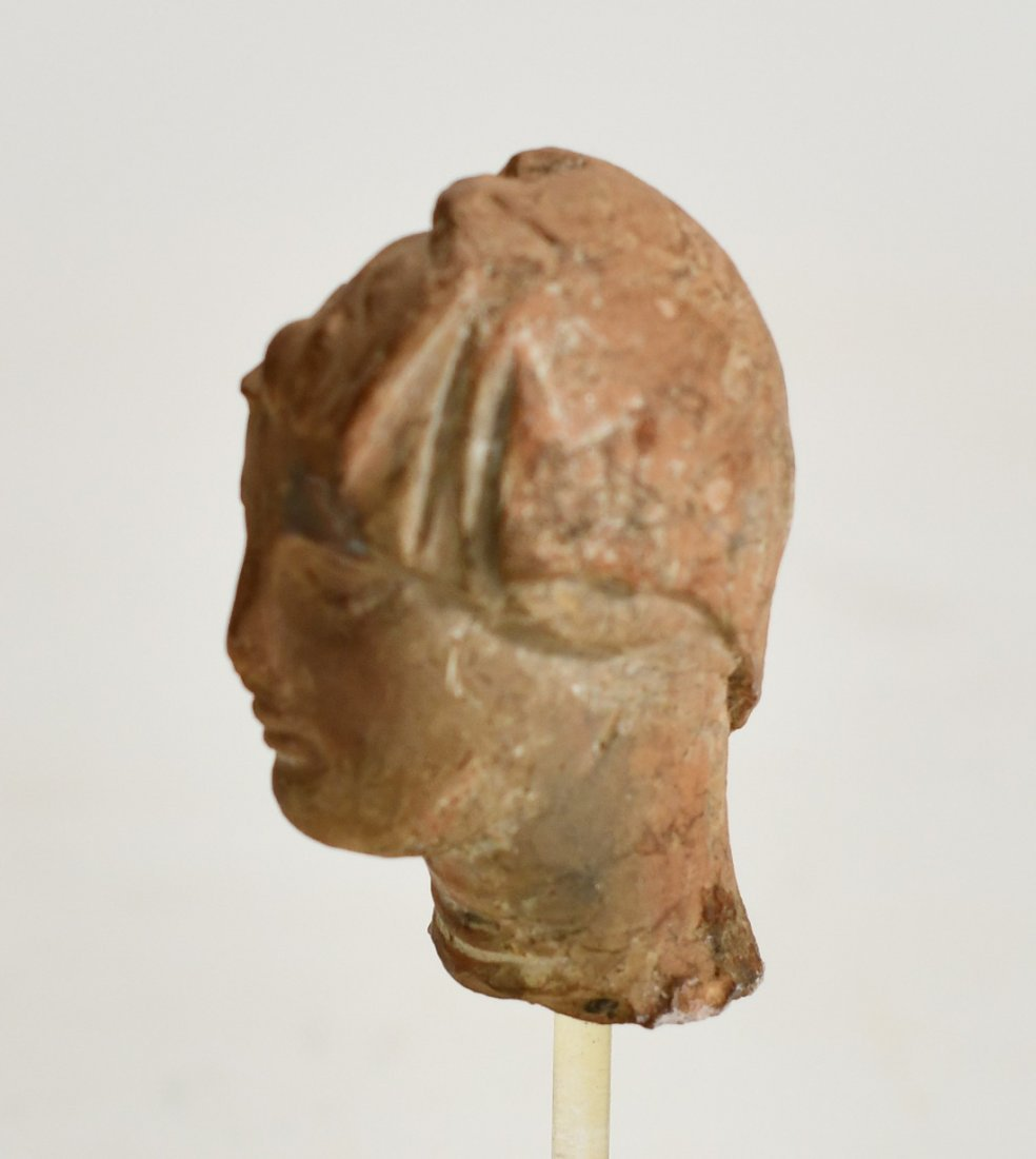 A Hellenistic Pottery Bust of a Female - 4