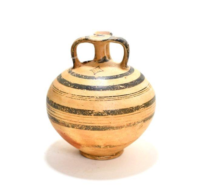 A Mycenaean Pottery Stirrup Jar