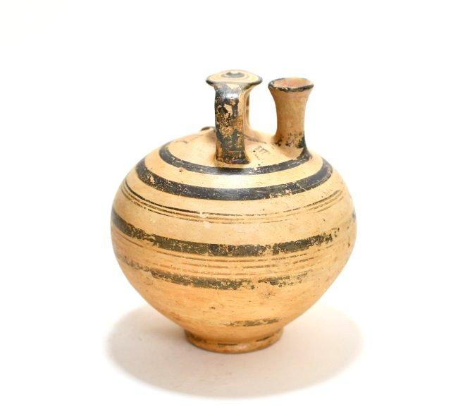 A Mycenaean Pottery Stirrup Jar - 2