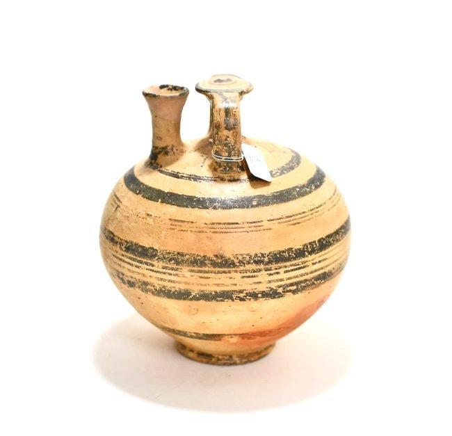 A Mycenaean Pottery Stirrup Jar - 3