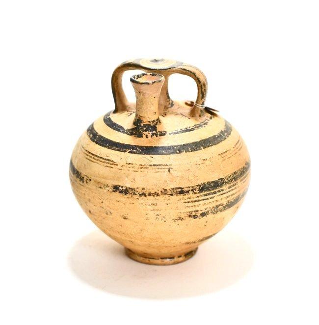 A Mycenaean Pottery Stirrup Jar - 4