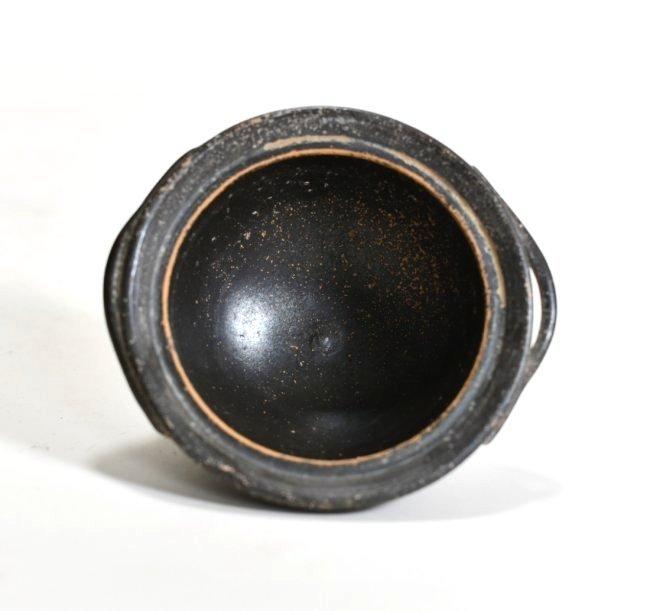 A Campanian Black-Glaze Lidded Pyxis - 8