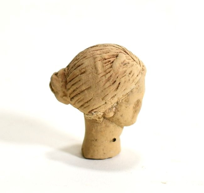 A Greek Pottery Female Head