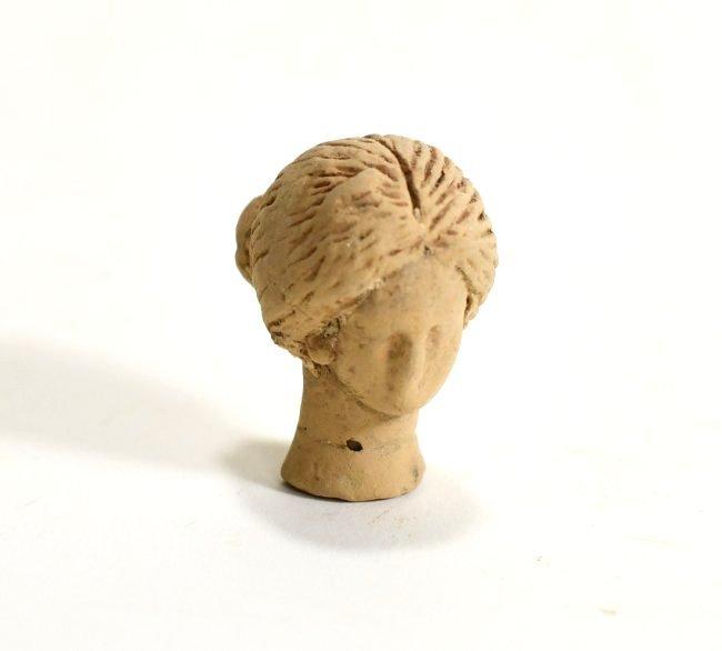 A Greek Pottery Female Head - 2