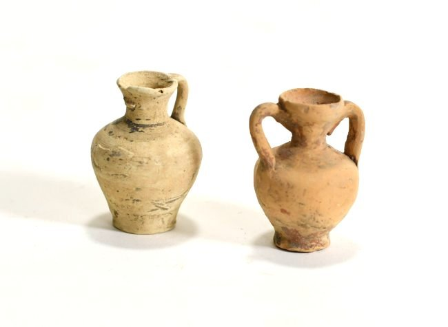 A Pair of Greek Miniature Pottery Amphoras