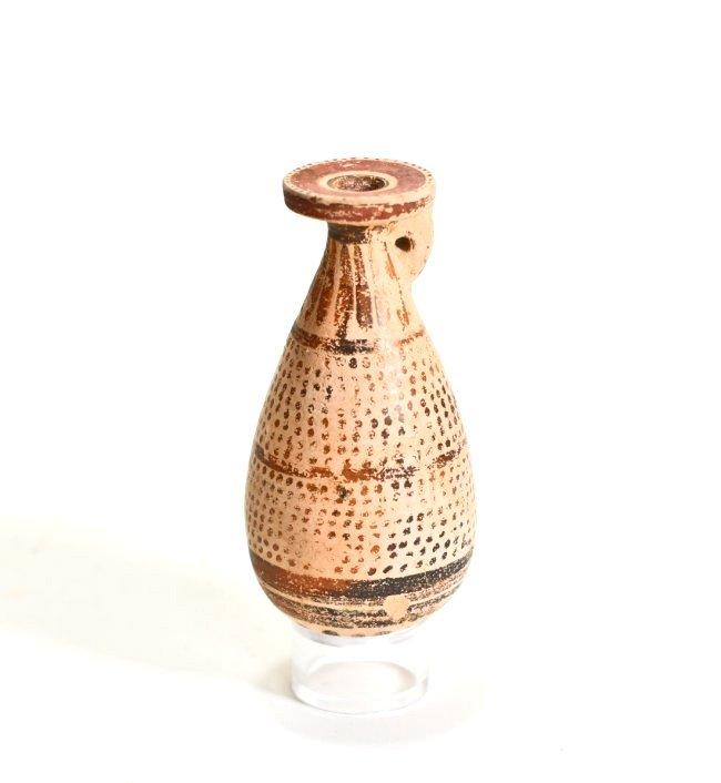 A Greek Corinthian Pottery Alabastron
