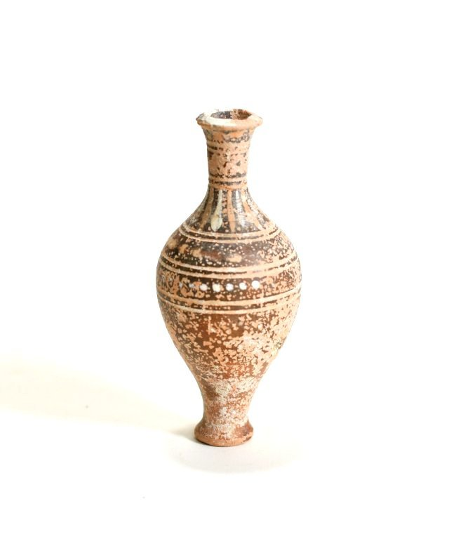 A Greek Pottery Spindle Flask