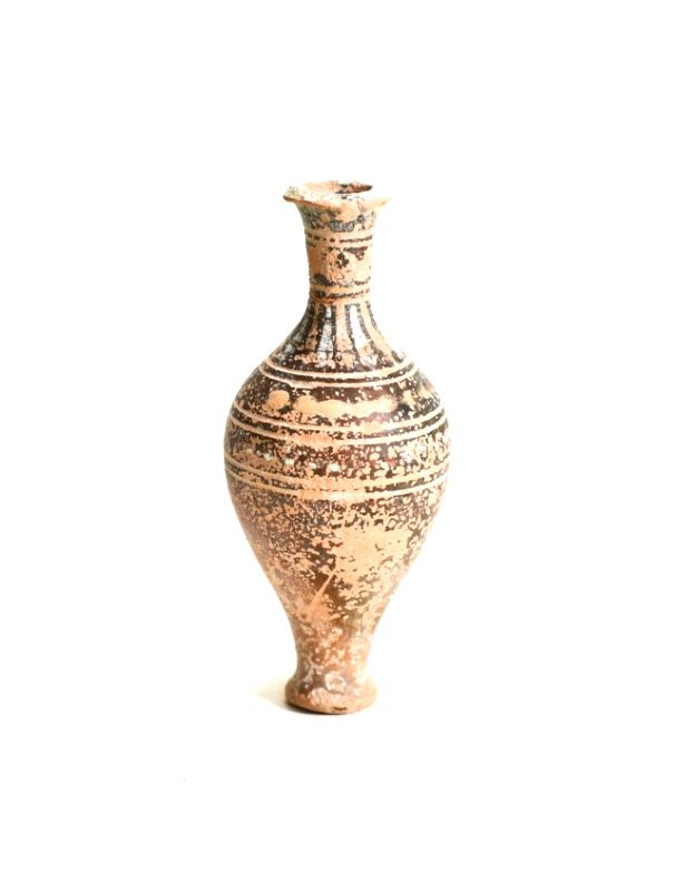 A Greek Pottery Spindle Flask - 2