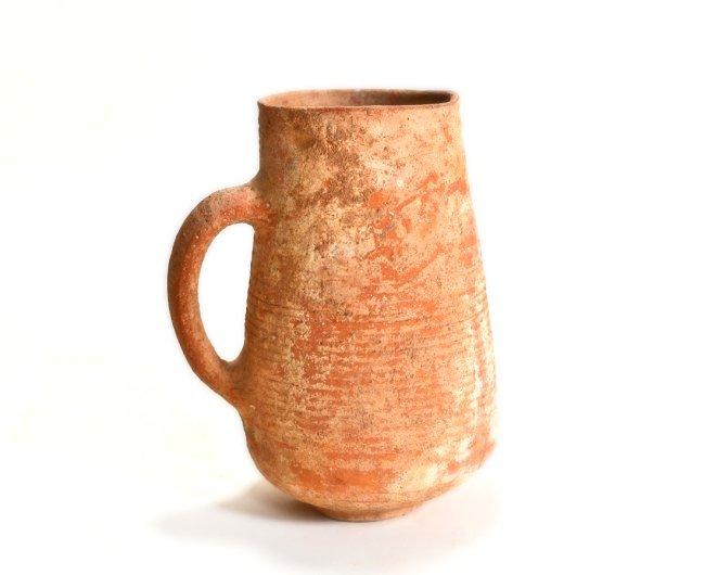 A Large Holy Land Wine Pottery Jug