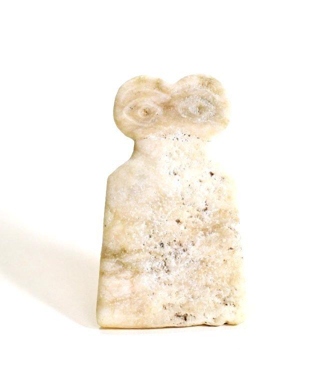 A Tel Brak Marble Eye Idol