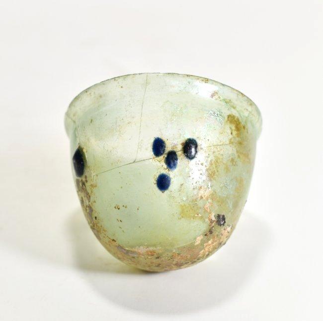A Roman Half Oval Glass Bowl