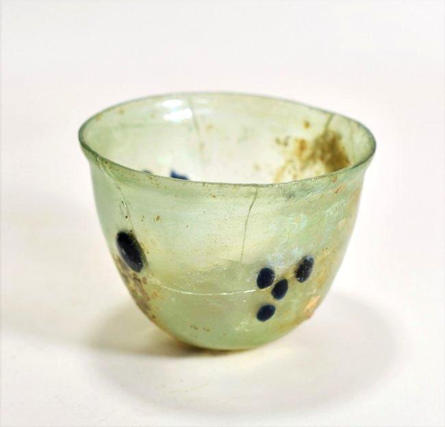 A Roman Half Oval Glass Bowl - 2