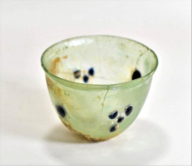 A Roman Half Oval Glass Bowl - 6