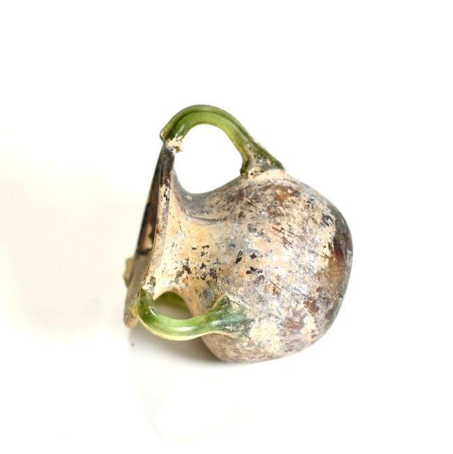 A Stunning Roman Aubergine Tri-Handled Glass Jar - 6