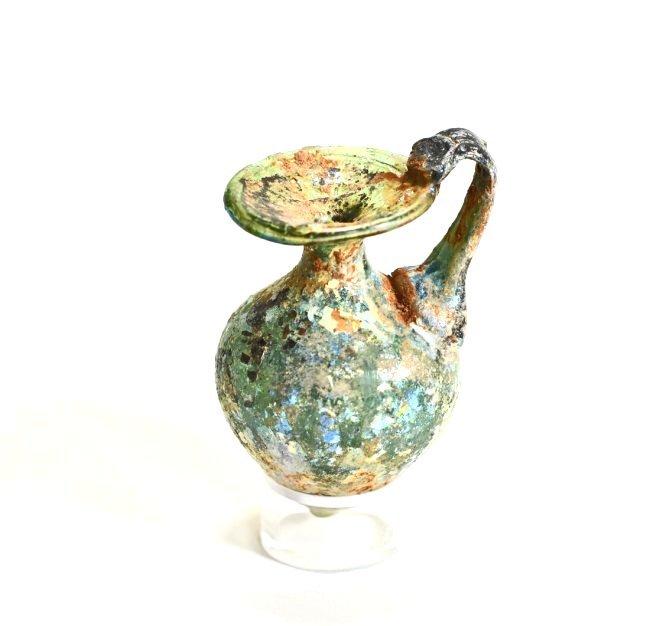 An Iridescent Roman Glass Jug - 2