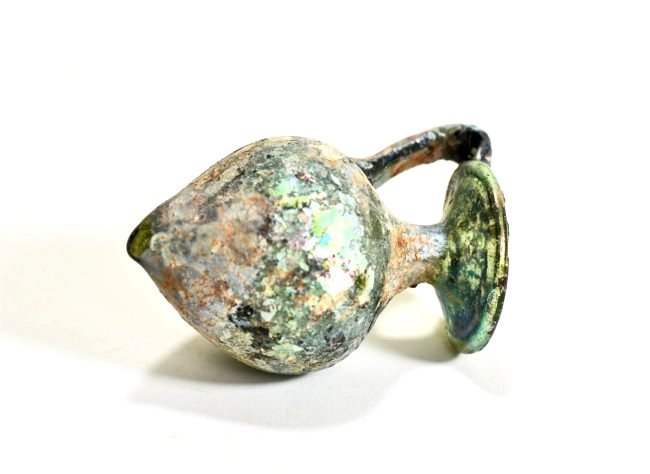 An Iridescent Roman Glass Jug - 7