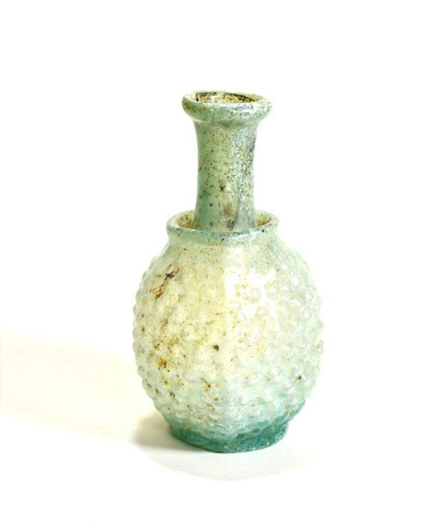 An Exceptional Roman Grape Glass Flask