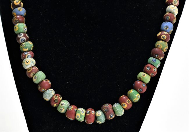 A Wearable Mediterranean Glass Eye Bead Necklace - 2