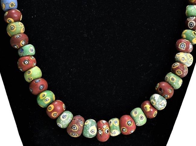 A Wearable Mediterranean Glass Eye Bead Necklace - 3