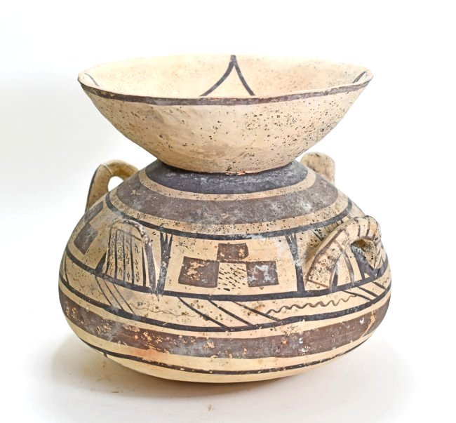 A Large Daunian Funnel Pottery Krater