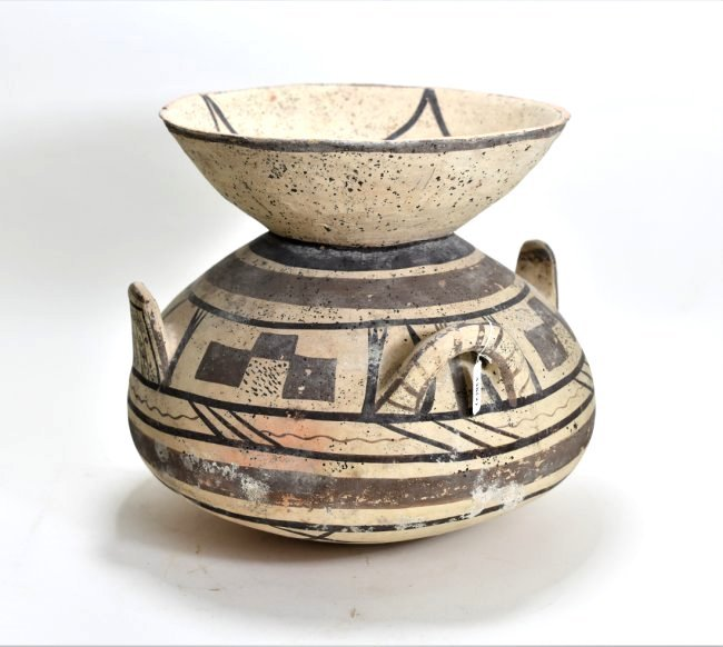 A Large Daunian Funnel Pottery Krater - 3