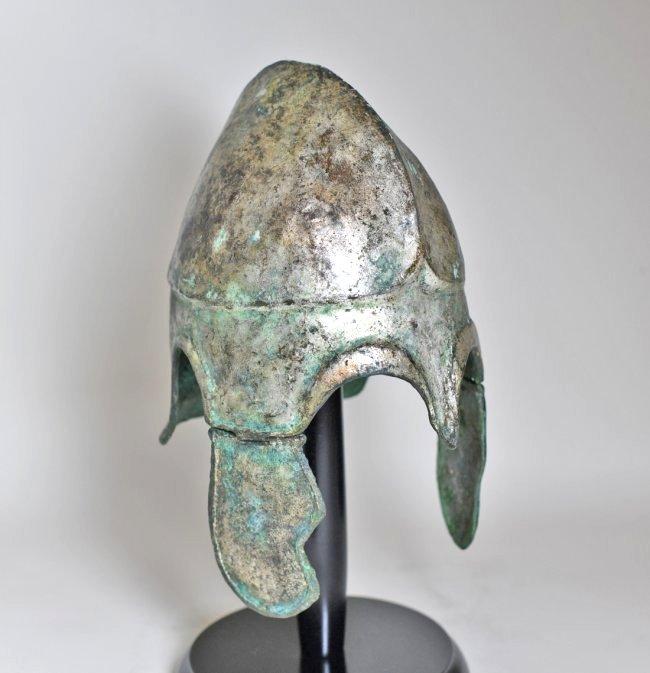 A Chalcidian Tinned Bronze Helmet - 6