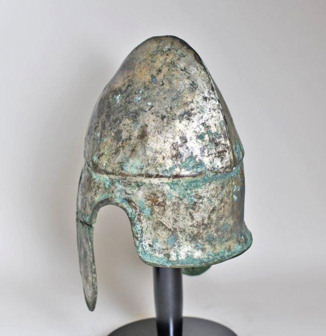 A Chalcidian Tinned Bronze Helmet - 7