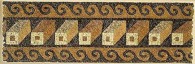 A Roman Mosaic Panel with Geometric Pattern