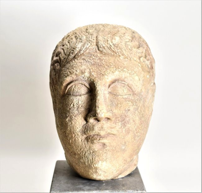 An Eastern Roman Stone Head of a Male - 2