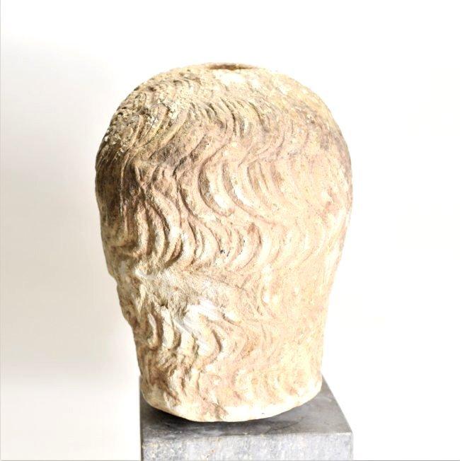 An Eastern Roman Stone Head of a Male - 4
