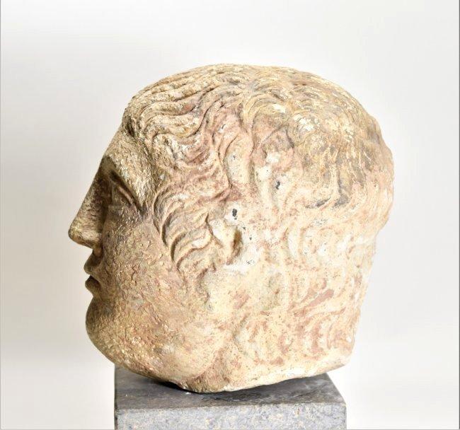 An Eastern Roman Stone Head of a Male - 5
