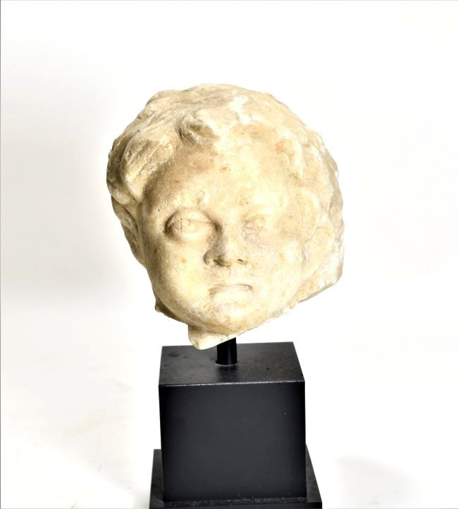 A Roman Marble Head of a Youth - 2