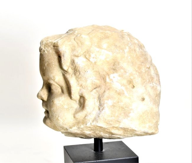 A Roman Marble Head of a Youth - 3