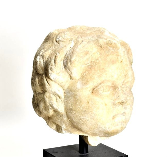 A Roman Marble Head of a Youth - 4