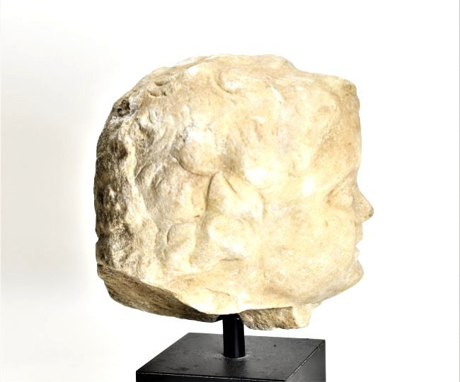 A Roman Marble Head of a Youth - 5
