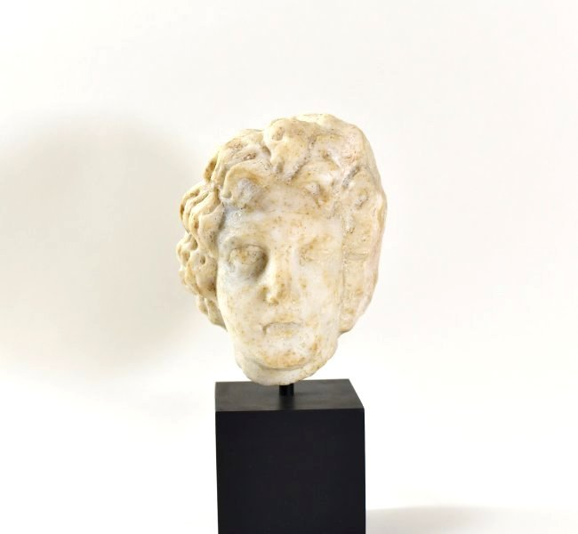 A Roman Marble Head of Alexander the Great