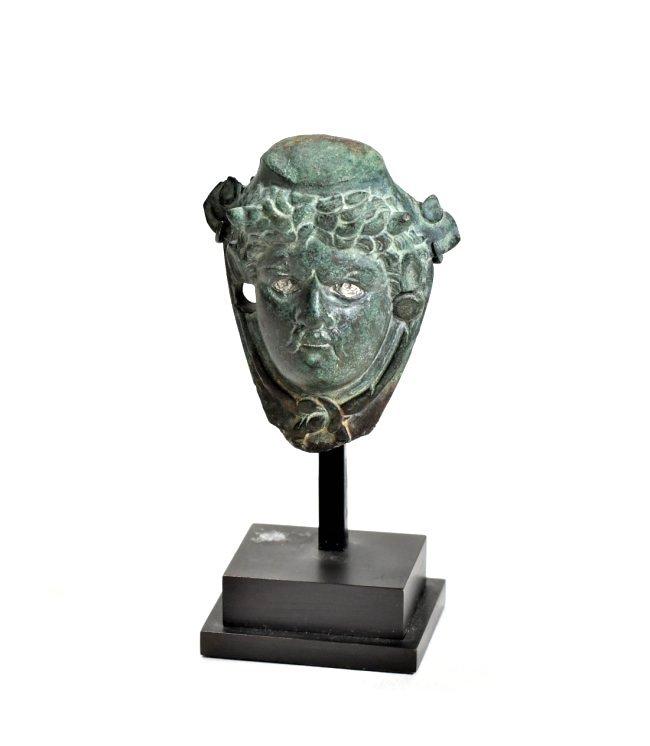 A Roman Male Bronze Bust